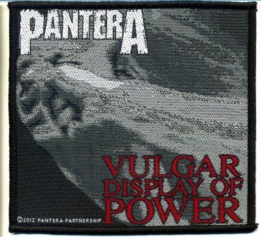 kleiner Aufnäher Pantera Vulgar Display of Power