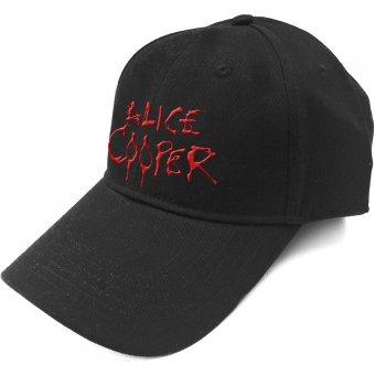 Baseball Cap Alice Cooper Red Logo
