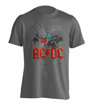 T-Shirt AC/DC Fly on the Wall ( grey ) M