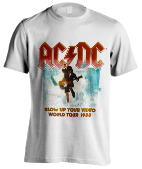 T-Shirt AC/DC Blow up your Video ( white )