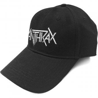 Baseball Cap Anthrax Logo ( Silver Logo )