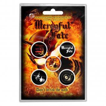 Button Set Mercyful Fate Don't break the Oath