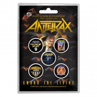 Button Set Anthrax Classic Logos
