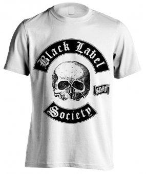 T-Shirt Black Label Society Classic Logo ( white )