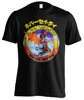 T-Shirt Black Sabbath Never Say Die Devil
