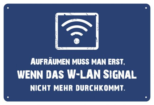 Blechschild W-Lan Signal