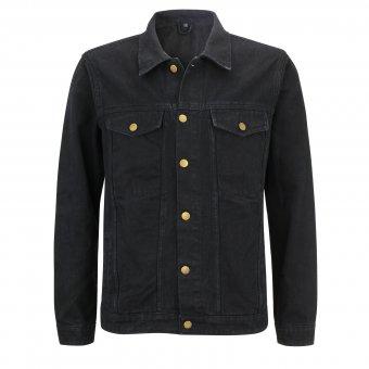 Jeans Jacke Bomber ( schwarz ) Capricorn Rockwear