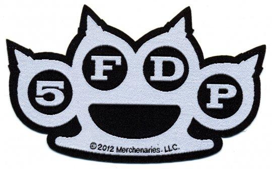 kleiner Aufnäher Five Finger Death Punch Knuckles Cut Out