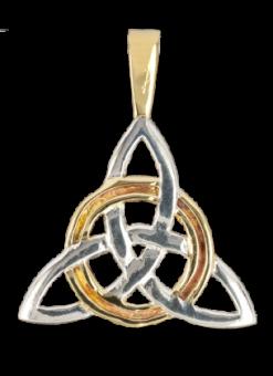Kette Triangle Knot ( versilbert )