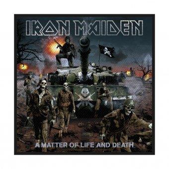 kleiner Aufnäher Iron Maiden A Matter of Life and Death