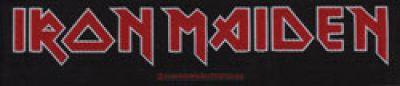 kleiner Aufnäher Iron Maiden Logo Stripe
