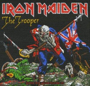 kleiner Aufnäher Iron Maiden The Trooper
