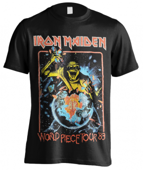 T-Shirt Iron Maiden World Piece Tour 83