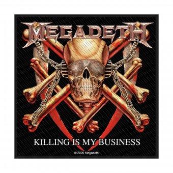 kleiner Aufnäher Megadeth Killing is my Business
