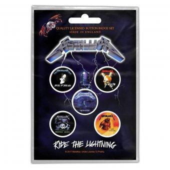 Button Set Metallica Ride the Lightning