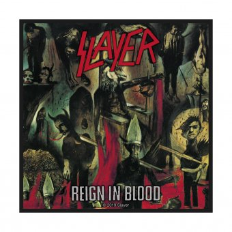 kleiner Aufnäher Slayer Reign in Blood