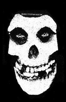 kleiner Aufnäher Misfits White Skull