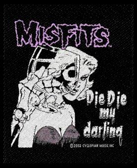 kleiner Aufnäher Misfits Die Die my Darling