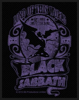 kleiner Aufnäher Black Sabbath Lord of this World