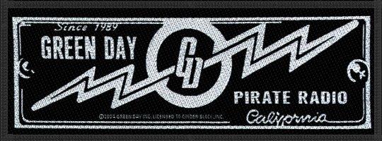 kleiner Aufnäher Green Day Pirate Radio