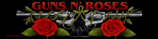 kleiner Aufnäher Guns'n Roses Logo Stripe