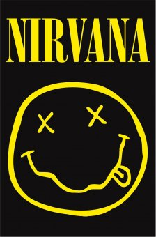 Flagge Nirvana Smiley