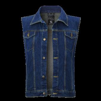 Jeans Weste Classic Dark Blue Denim Capricorn Rockwear