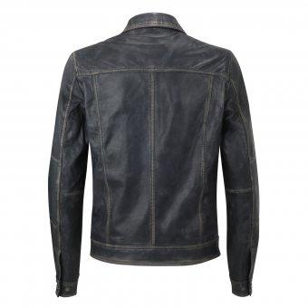 Lederjacke Black Vintage Style M