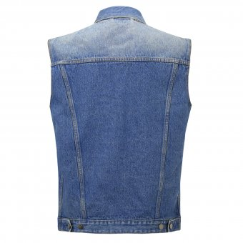 Jeans Weste Capricorn Rockwear blau Damage Case L