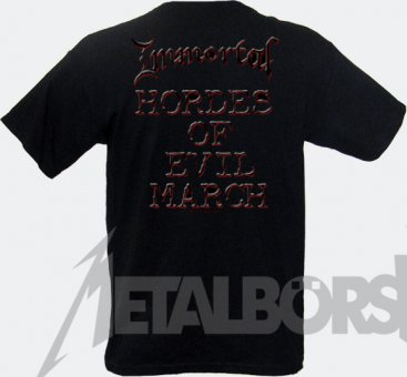 T-Shirt Immortal Damned in Black