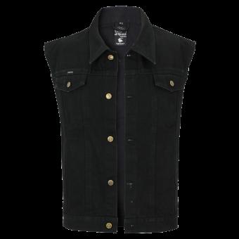 Jeans Weste schwarz Capricorn Rockwear