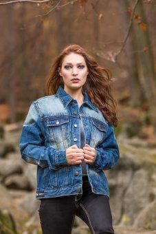 Jeans Jacke Aces blue Stone Washed Capricorn Rockwear