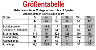 Jeans Jacke All the Aces Vintage schwarz