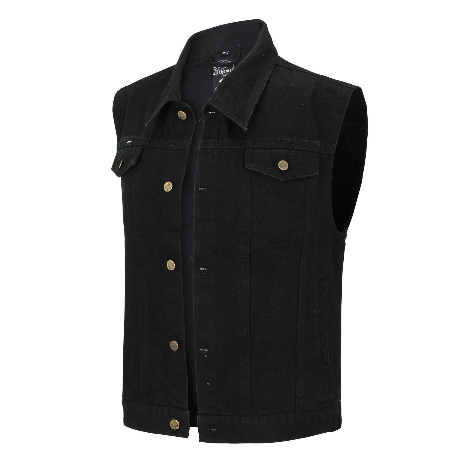 jeans weste schwarz capricorn rockwear online shop. Black Bedroom Furniture Sets. Home Design Ideas