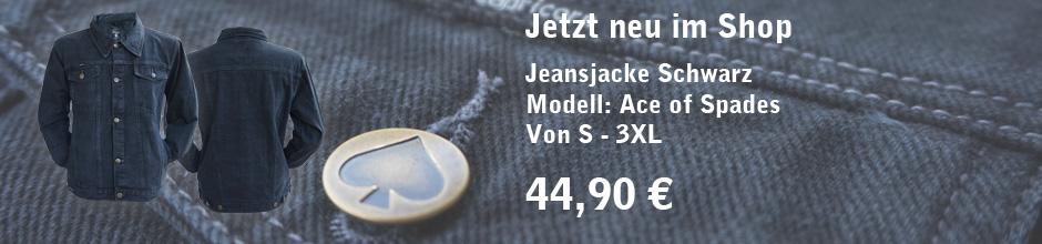 Jeans Jacke Ace of Spades neu im Shop